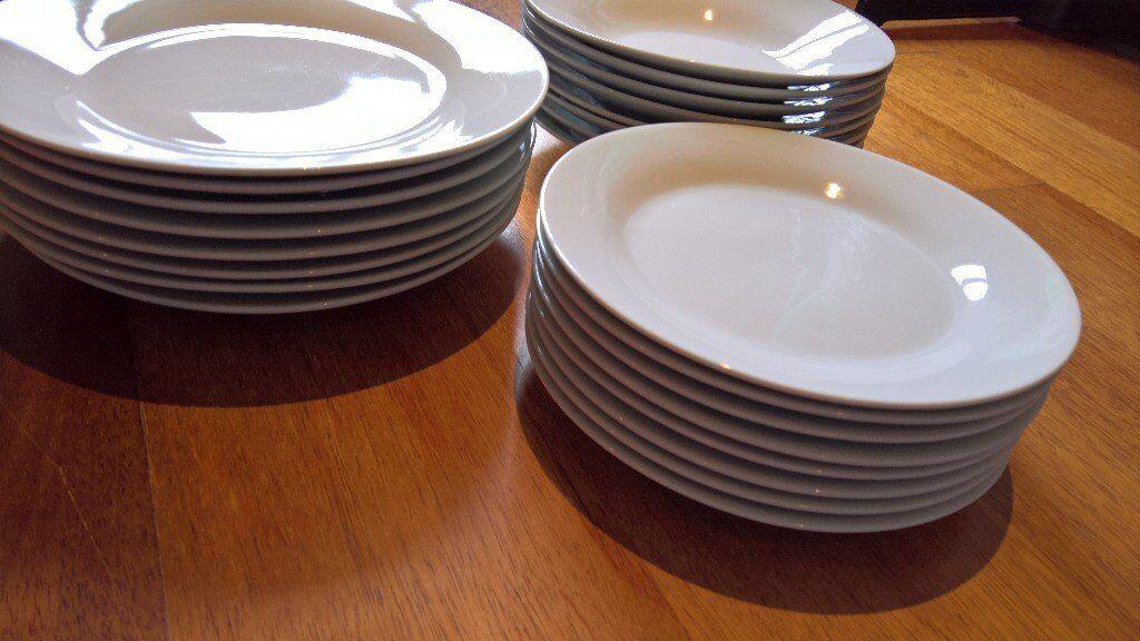 Plain White Dinner Set 24 Pieces In Kirkintilloch Glasgow Gumtree