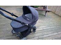 Oyster pram & push chair travel system, unisex black