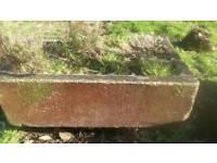 Antique brown troughs