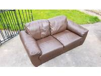 2 x Small Leather Sofas