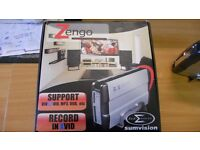 Zengo Sumvision 200 gb Hardrive Video Player And Recorder card reader caddy