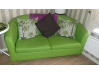 LOOK****Apple Green Tub Sofa, Couch Chair Seats Living Room Set As New RRP £350