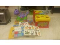 Bundle of toys and books for baby / toddler