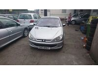 Low mileage 206 convertible silver private plate very good on fuel great little car bargain £850
