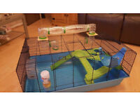 Hamster,Small Pet Cage with wheel,Running ball and bits