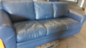3 - 2 - 1 LEATHER SOFA 0NLY £30