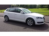 Audi A3 SE, White, 1.6 Petrol Car, Manual, 58 plate, 5 Door Hatchback.