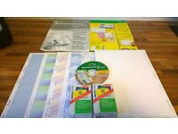Business Card Software (Sigel) plus blank labels and laminating pouches