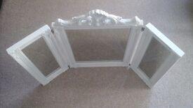 Folding Dressing Table Mirror White