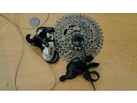 10 speed Sram X9 mech, shifter and 11-42 cassette