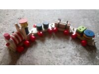 Wooden Activity and Learning Train