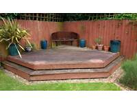 Used Decking Frame and Deck Boards