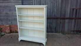 Large Painted Shabby Chic Bookcase Shelves