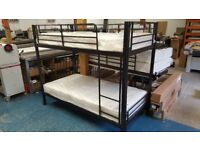 Bunk Beds. Heavy Duty, Suitable for Adults - Nearly New Mattresses