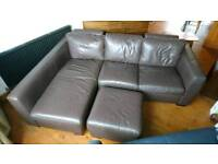 Faux leather corner sofa - open to offers