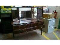 Vintage Triple Mirrored Stag brand dressing table
