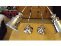pair of chrome lamps hardly used excellent condition £15