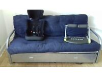 Bed settee and futon and drawer