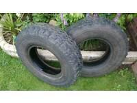 X2 land rover tyres 7.50R16 £15.00