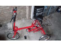 """Adult folding tricycle - 7 gears suit 31"""" leg"""