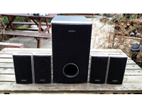 Sony home cinema 4 speakers and 1 subwoofer