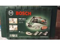 Bosch PMF 180 E Multifunctional Allrounder Oscillating Multi-Tool with Cutting Discs, Saw Blades