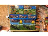 Joblot 4 boxes of Giant Foam Dominoes and 5 boxes of Noughts and Crosses