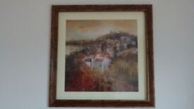 Large, landscape framed print