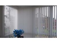 Vertical blinds 3 years old, Sizes Width 263 x 215, 239 x 215, 182 x 215. Uplift only £50 per blind