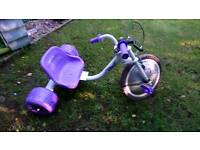 Large dragster trike with light up wheel