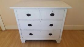 Chest of drawers Annie Sloan White £30ono