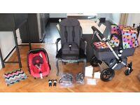 LTD EDITION MISSONI BUGABOO CAMELEON2 PRAM + RED MAXI COSI CAR SEAT + EXTRAS - RRP£1350.00