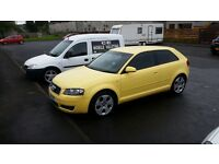 AUDI A3 yellow