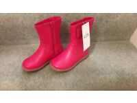 Brand new M & S girls pink boots