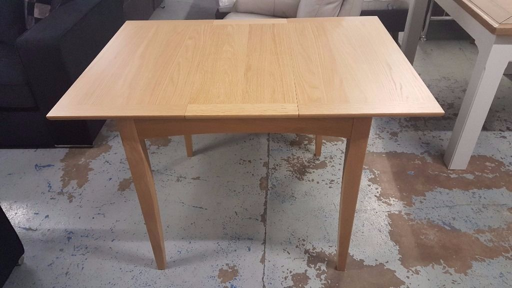 Ex Display John Lewis Alba 2-4 Seater Dining Table Oak Can Deliver View Collect Hucknall Nottm NG157