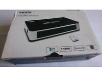 HDMi Switch (Switcher) Full HD 1080p (Like New) Remote Unused