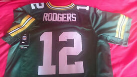 Green Bay Packers, Aaron Rodgers, NFL Jersey, Large