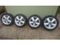 A2124013902 .Genuine mercedes E class alloy wheels with Pirelli Winter tyres 245/4517. Part no: