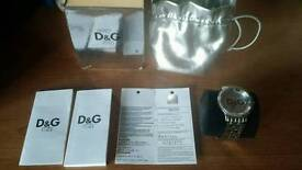 D and G Time diamond accent unisex watch, with certificate/purchase booklet
