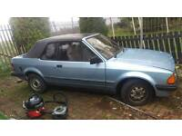 1984 ford escort 1.6 convertible