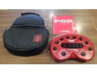 Line 6 Pod Version 2.0, Power Adaptor, Instructions and Carry case for sale.