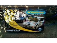 Vintage rally scalextric set