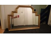 BEAUTIFUL UNUSUAL LARGE MIRROR - PERFECT FOR A FIRE PLACE