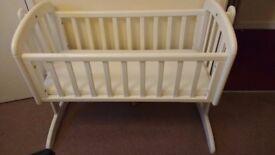 White John lewis Anna swinging crib