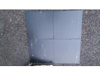 "Black Tulip Vinyl floor Tile- ""Polyflor Polyflex Plus"" Black Tulip Tile. 2 boxes (100 tiles)"