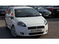 FIAT GRANDE PUNTO SPORTING T-JET 16V JUST 32000 MILES AND FSH (white) 2008