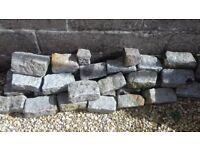 Aprox 70 Granite bricks