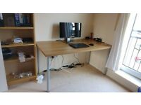 Desk top (120x60 cm) - Ikea Linnmon oak effect (as new)