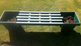 Garden bench with planters