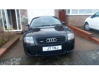 Audi TT Quattro Coupe 3.2 Black for sale. One owner. Full service history. Red leather interior.